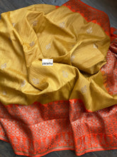 Tassur Silk Banarasi - Ochre Yellow Orange