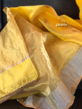 Pure Chanderi Silk - Yellow Eknaliya 1 Woven