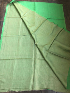 Pure Pashmina Stole - Green Reversible