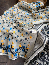 Soft Jamdaani  - Offwhite Yellow Blue Black