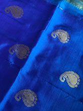 Silk Kanjivaram - Royal Blue Firozi Dual Shaded