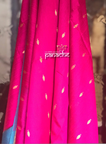 Silk Cotton - Pink and Firozi