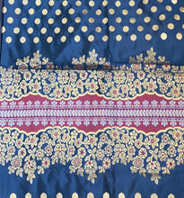 Katan Silk Banarasi - Black Golden Butta