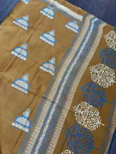 Pure Bishnupur Silk - Ochre Yellow Printed
