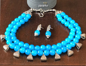 Jewelry- Light Blue Beaded Set
