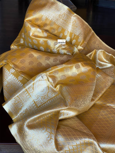 Tissue Silk Banarasi- Golden Yellow Dual Shaded