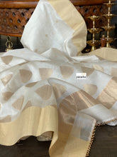 Chanderi Silk Cotton - Offwhite  Golden Zari