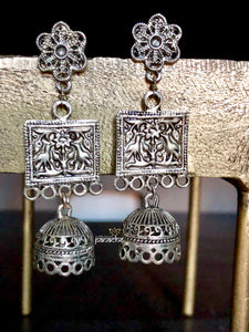 Jewelry- Antique Silver Small Jhumki