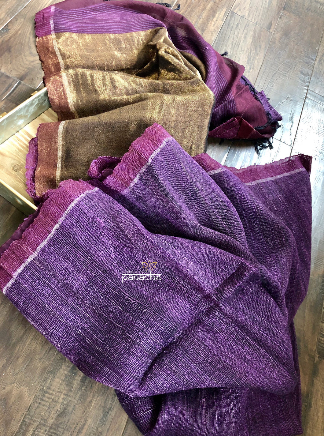 Gicha Tussar Silk - Purple