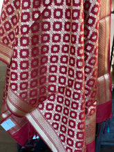 Silk Cotton Dupatta - Maroon Golden Zari