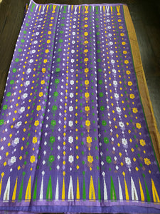 Soft Jamdaani- Lavender Purple Yellow Woven