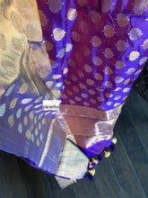 Pure Chanderi Silk - Purple