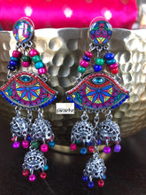 Jewelry Earring - 3 Jhumki Purple beads