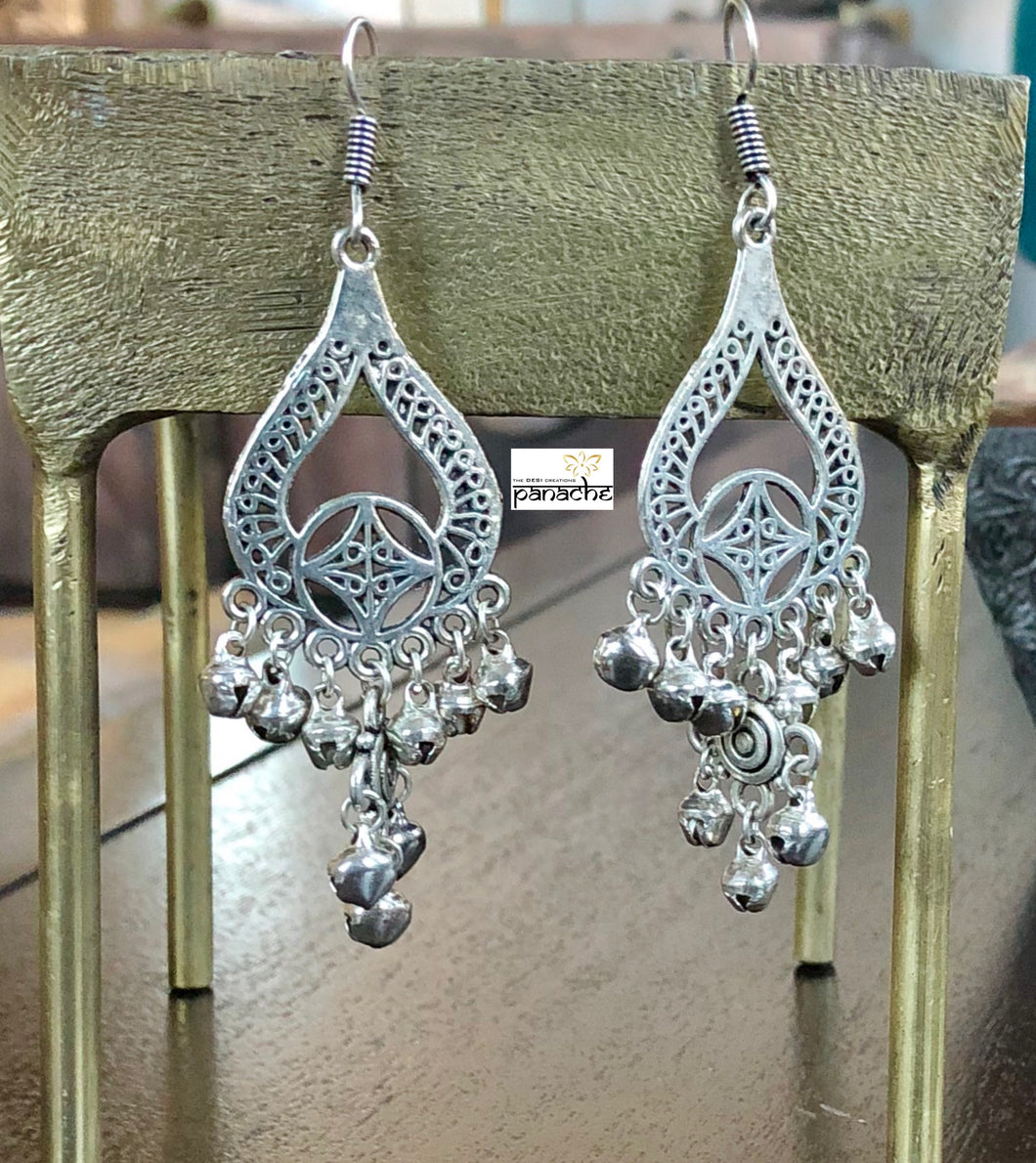 Jewelry- Dangler Earring Pear shape German Silver