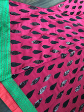 Designer Saree - Grape color Black sequin