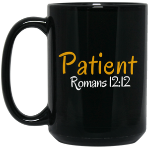 Patient 3b BM15OZ 15 oz. Black Mug