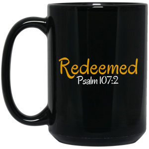 Redeemed 3 BM15OZ 15 oz. Black Mug