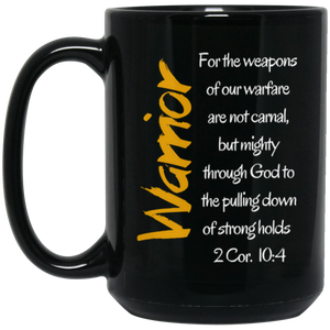 Warrior 1 BM15OZ 15 oz. Black Mug