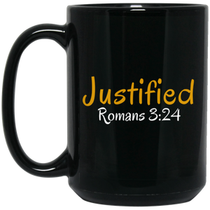 Justified 3a BM15OZ 15 oz. Black Mug