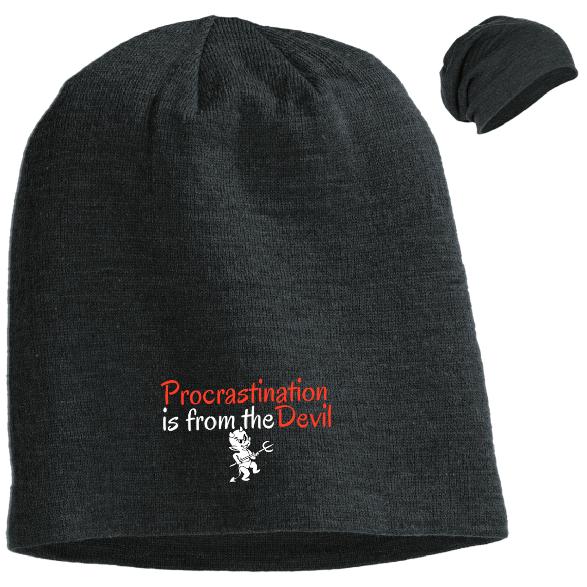 Procrastination 1gs DT618 District Slouch Beanie