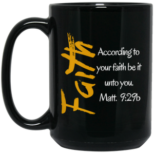 Faith 1a BM15OZ 15 oz. Black Mug