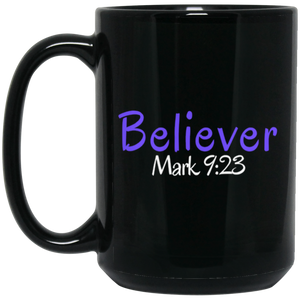 Believer 3 BM15OZ 15 oz. Black Mug
