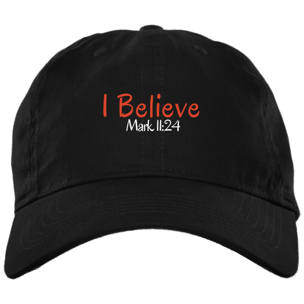 I Believe 3 BX001 Brushed Twill Unstructured Dad Cap