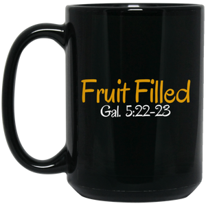 Fruit Filled 3 BM15OZ 15 oz. Black Mug