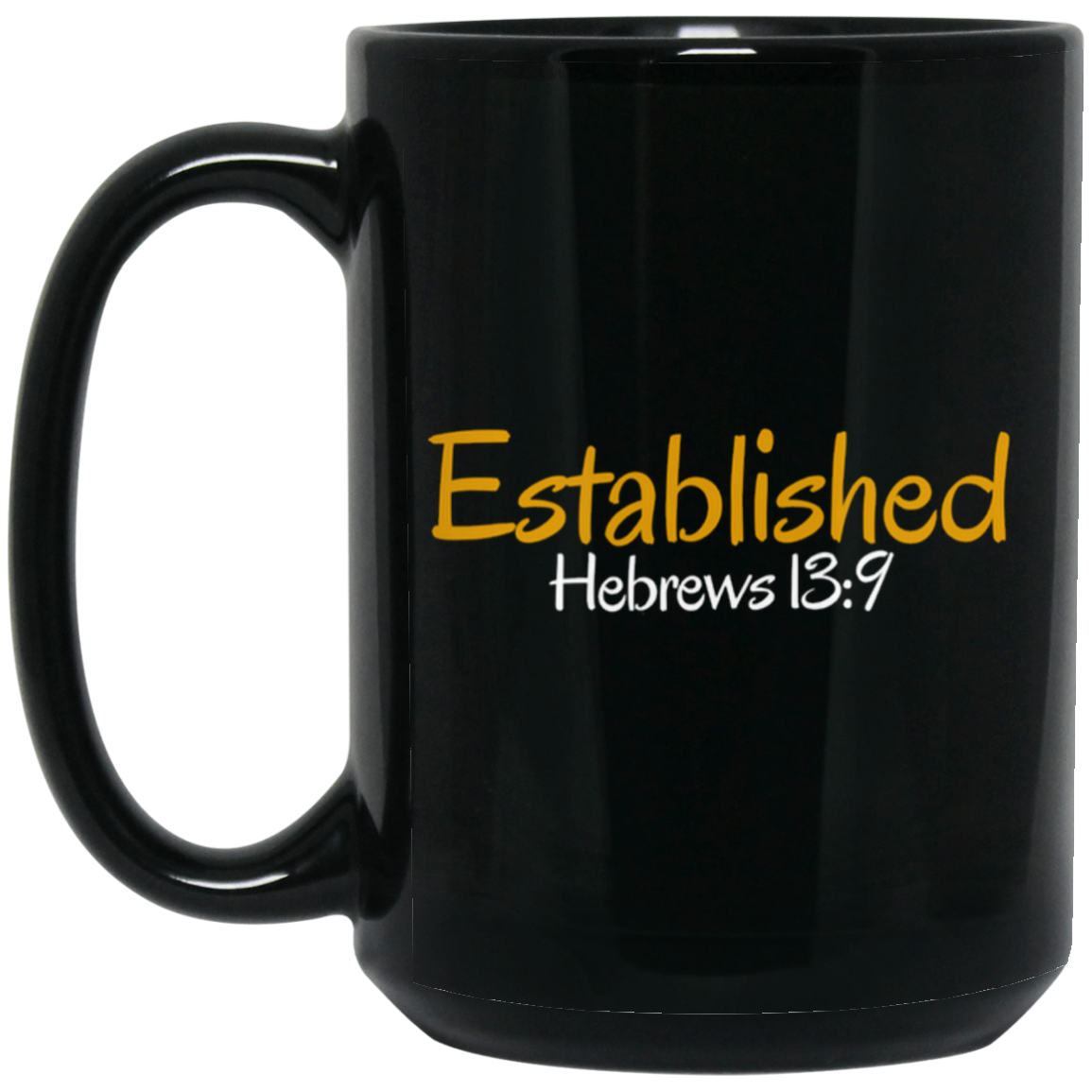 Established 3 BM15OZ 15 oz. Black Mug