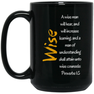 Wise 1 BM15OZ 15 oz. Black Mug