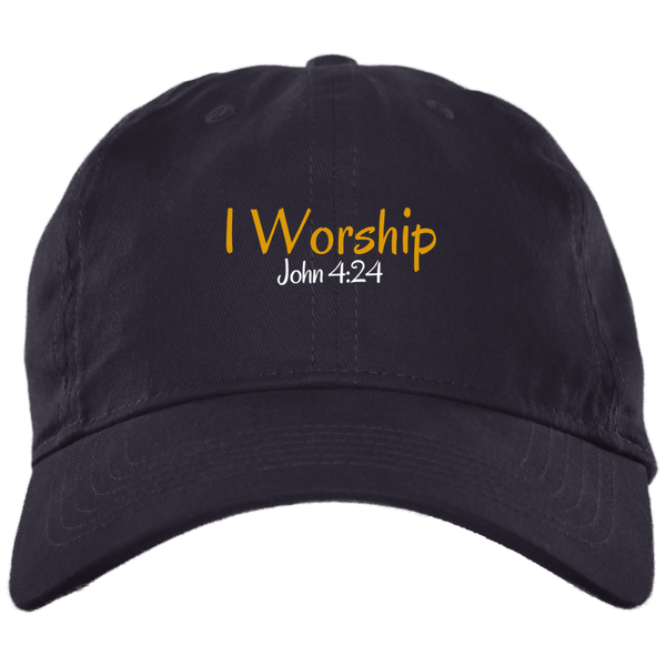 I Worship 3 BX001 Brushed Twill Unstructured Dad Cap