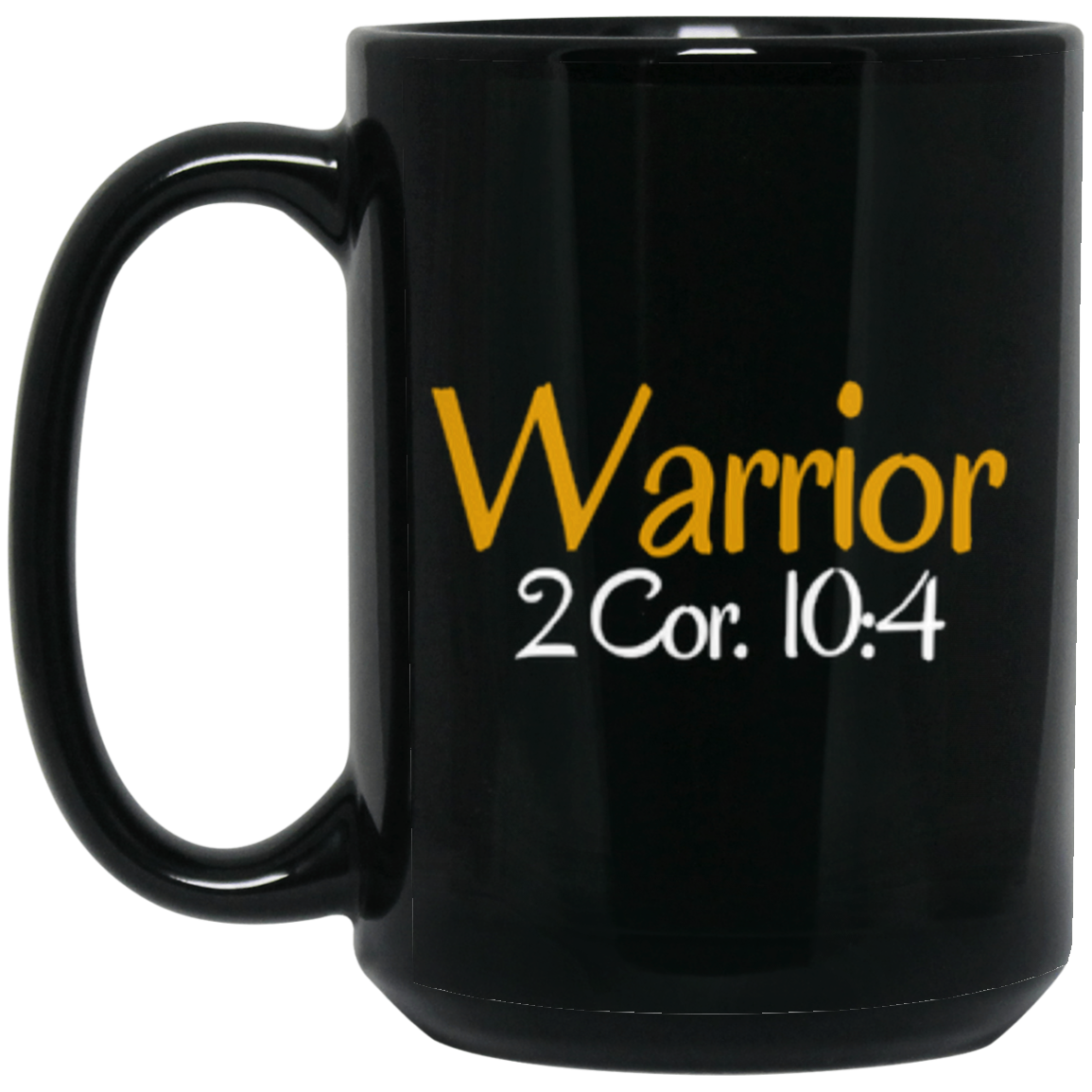 Warrior 3 BM15OZ 15 oz. Black Mug