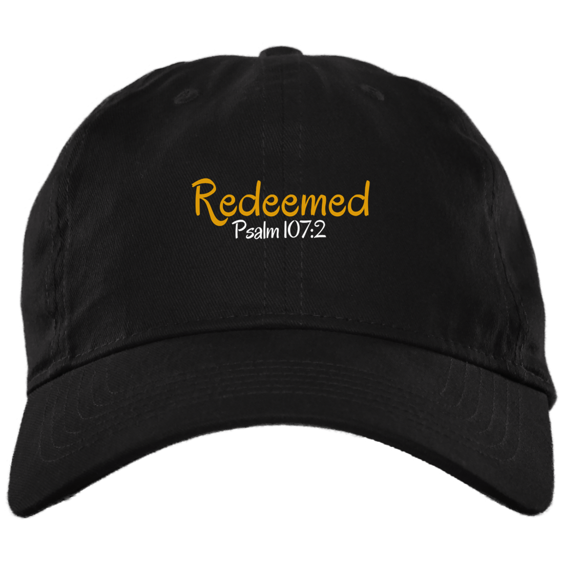 Redeemed 3 BX001 Brushed Twill Unstructured Dad Cap