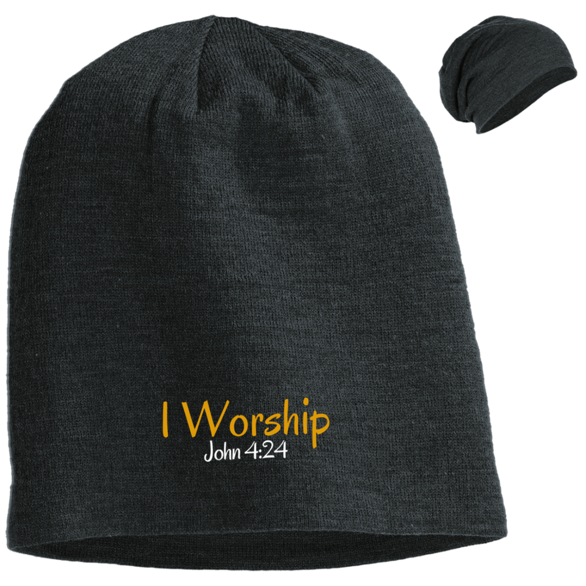 I Worship 3 DT618 District Slouch Beanie