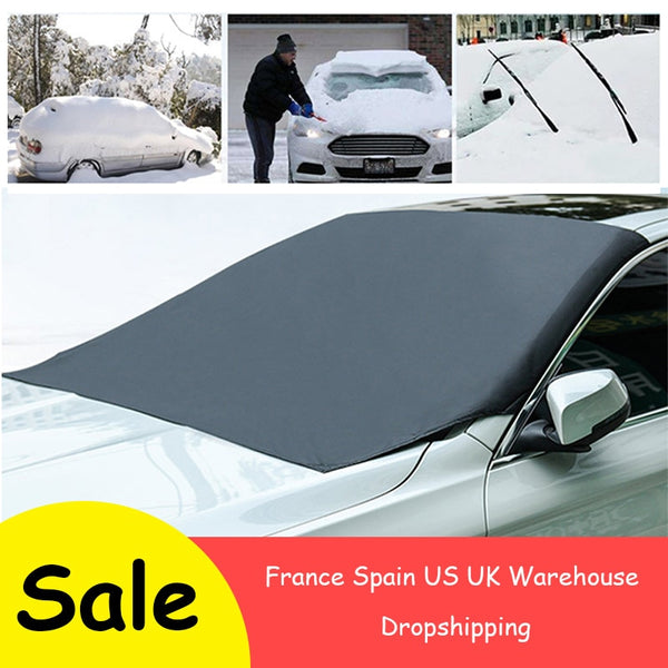 Magnetic Waterproof Front Windshield Snow Protector / Sunshade Car Cover