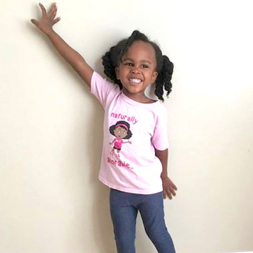 Naturally Adorable Kristin - Girl's Tee Pink
