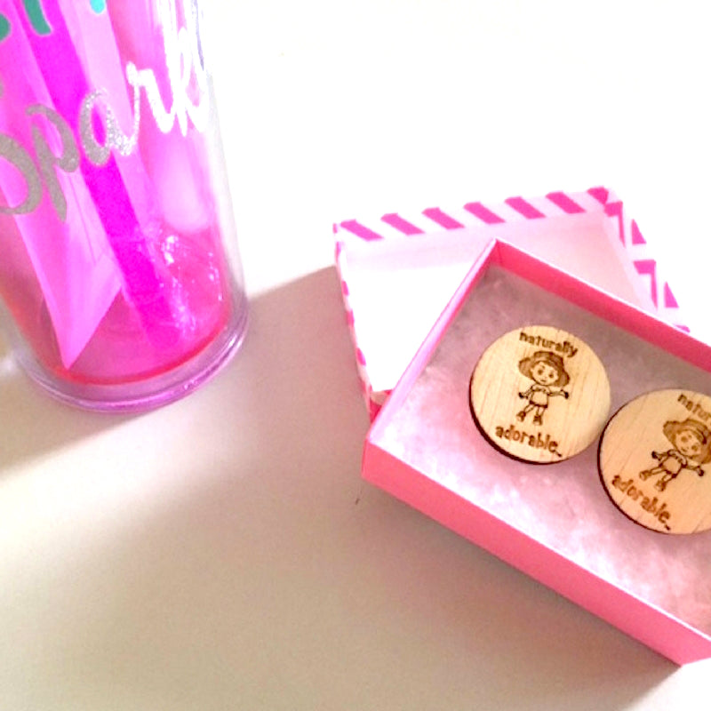 Naturally Adorable Button Stud Earrings