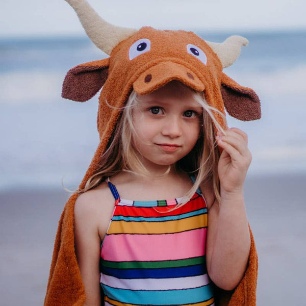 Lincoln Longhorn Hooded Kids Towel - The Beef Boutique