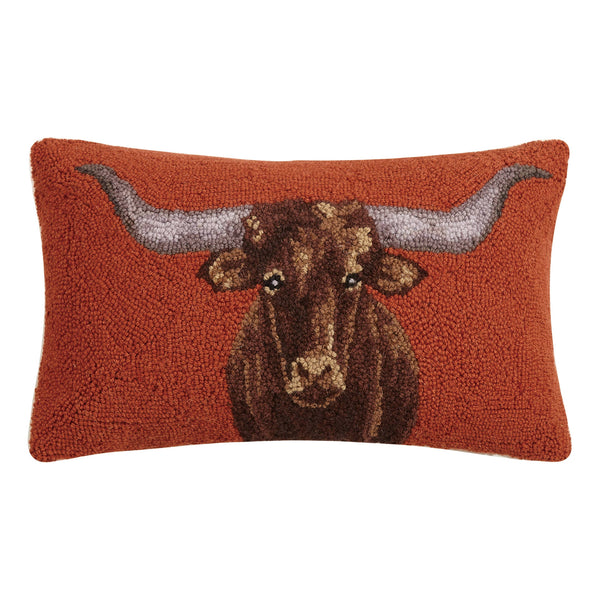 Longhorn Hook Pillow - The Beef Boutique