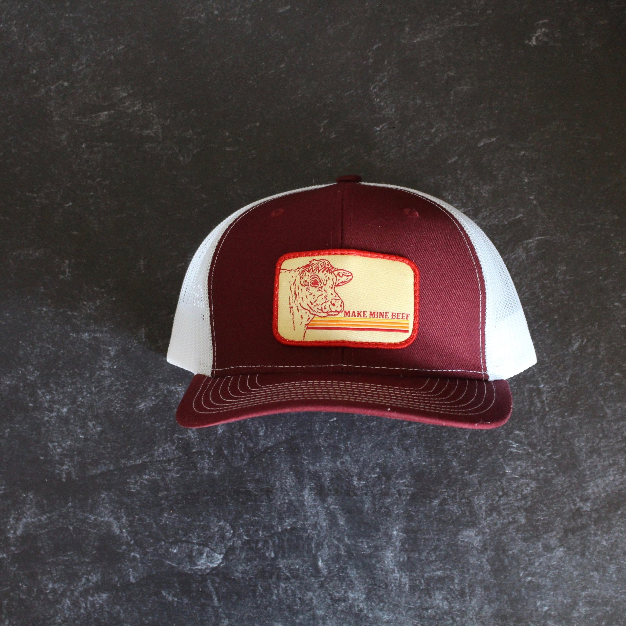 Retro Patch Make Mine Beef Hats - The Beef Boutique
