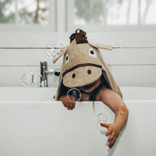 Happy Horse Hooded Kids Towel - The Beef Boutique