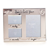 Baby's First Year Silver Photo Frame