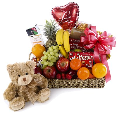Fruit Chocolates Savouries Bear and Balloon