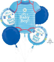 Baby Boy Balloon Bouquet and Weight