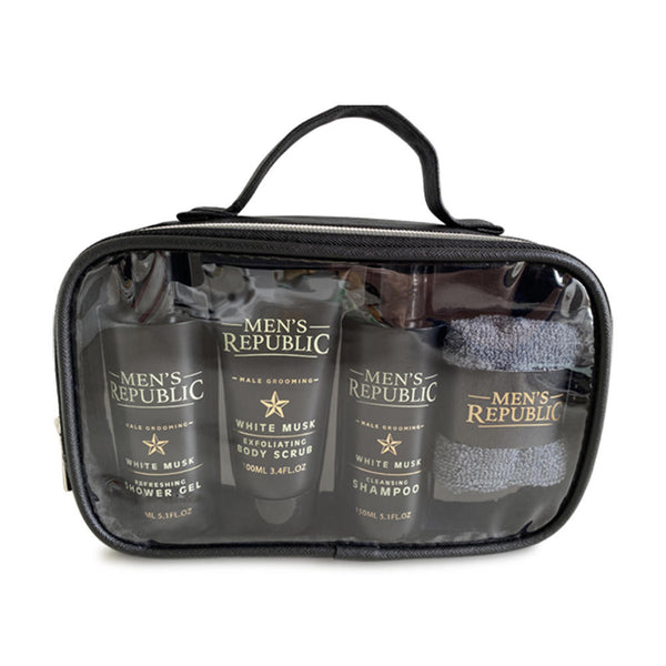 Shower Cleansing in a Toiletry Bag