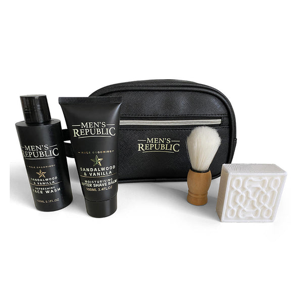 Cleansing and Beard Care in a Toiletry Bag