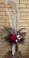Tall preserved floral arrangement