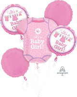 Baby Girl Balloon Bouquet and Weight