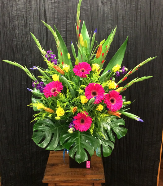 Bright Mixed Floral Ceramic Arrangment