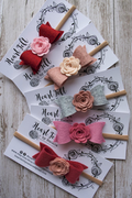 Heartfelt Flower Bow Headband (Multi Colors available)